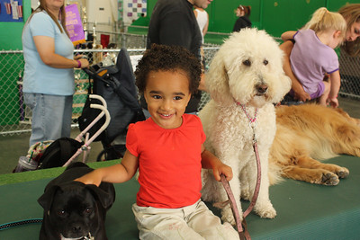 Esther loves the 4-H doggy exhibit!