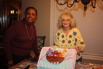 Carolyn with Kathy, who made my cake