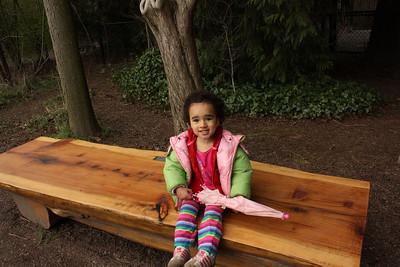 Sitting on Brady's bench