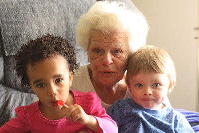 Great-Grandma and the great-grandkids