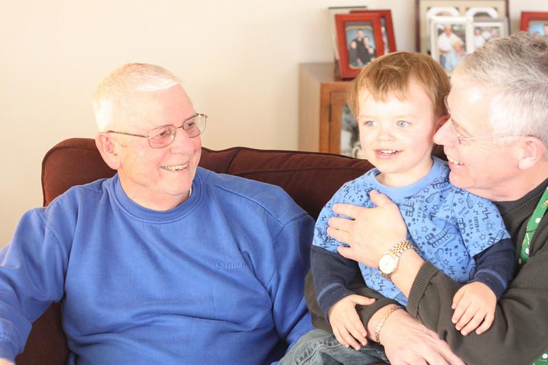 Albert and Albert (with Grandpa Mike)
