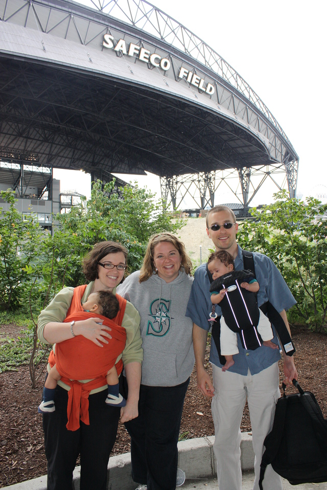 Outside Safeco Field with Kristyn, Dave and Irene