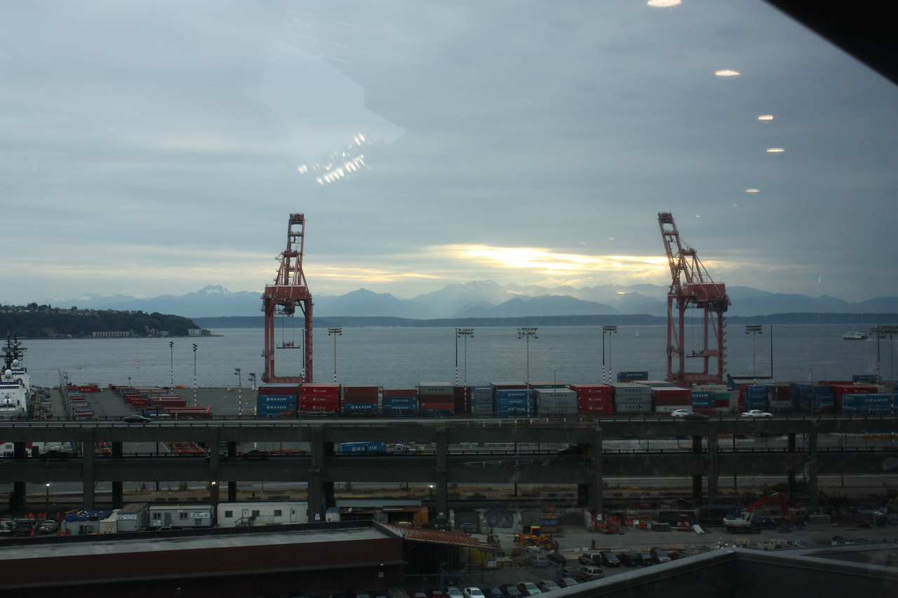 The Port with the Olympics in the background