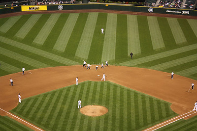 Grounds crew do their dance