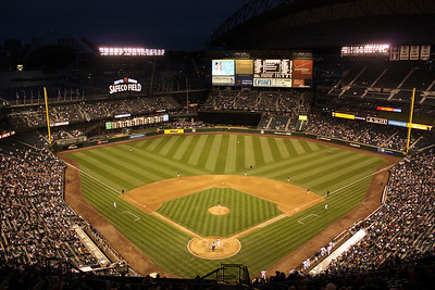 Safeco Field at night