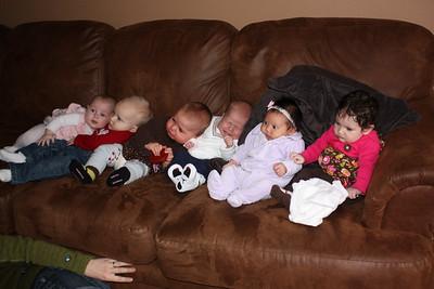 Row of babies!