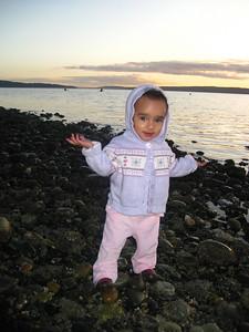 Esther on the beach