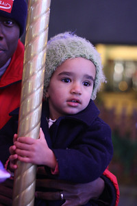 Esther loved the carousel so much, she could barely smile. It was her favorite part of the night!