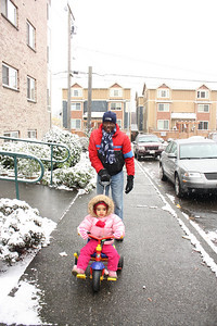 Walking in the snow with Baba