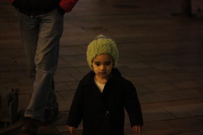 Esther enjoys Christmas downtown