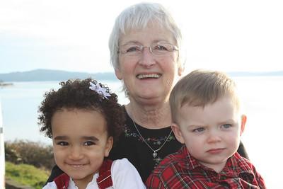 Bibi and the grandkids.