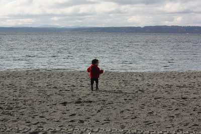 At Golden Gardens. We love being so close to the beach.