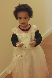 Esther's dress up clothes from the Burns' and Christianson's. I love my princess dress!