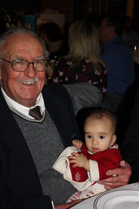 With Great Uncle Alex at Corey and Stephanie's wedding