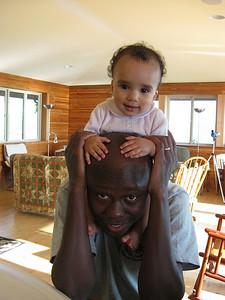 On baba's shoulders