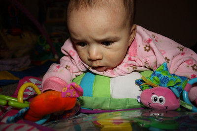 I am getting better at tummy time.