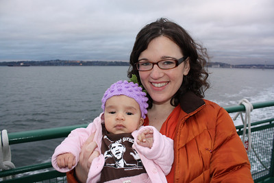 Esther and Mama on the ferry