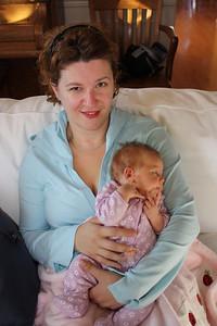 Lydia holding Kayla