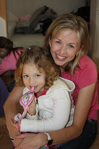 Carrie with Lydia's daughter Tamara. Mama remembers when we had Tamara's shower!