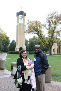 Family photo with the bell tower