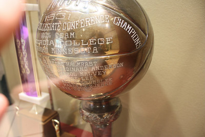This trophy celebrates the Championship victory in 1931 of the men's basketball team. Grandpa Art's cousin Al Storslee was on that team (Small world!)