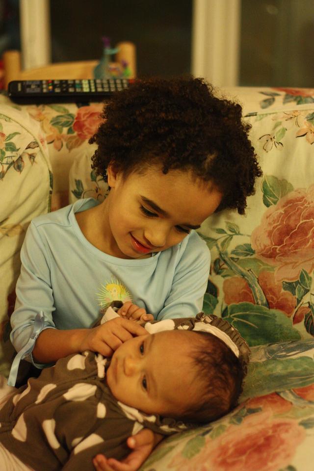 Adoring big sister