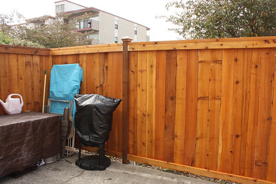 Our new Patio Fence, yeah!