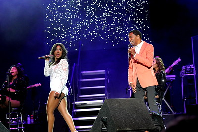 BabyFace 2015 concert tour featuring Toni Braxton at the Dell Music Center in Philadelphia, PA