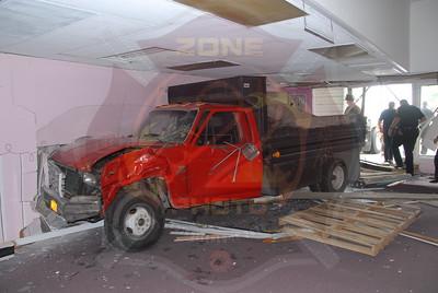 Babylon F.D. MVA w/ Truck Into Building 260 E. Main St. 9/27/11