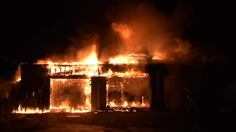 Babylon Building Fire- Paul Mazza