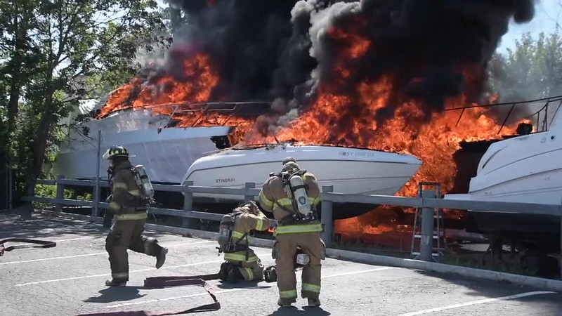 Babylon Multiple Boat Fires with Burn Victim- Paul Mazza