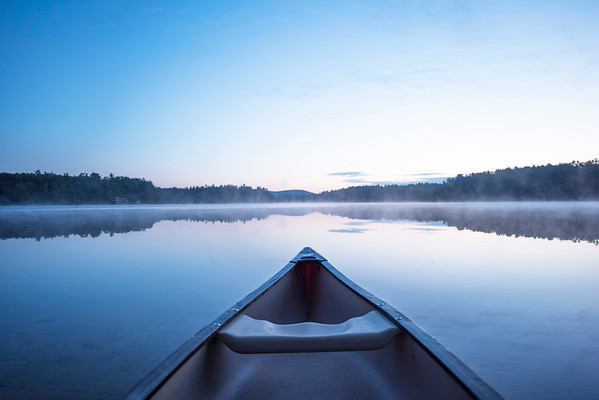 Early morning smoke on the water at Crescent Lake in Wolfeboro, NH
