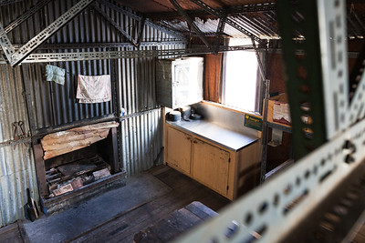 Comyns Hut interior, Hakatere Conservation Park