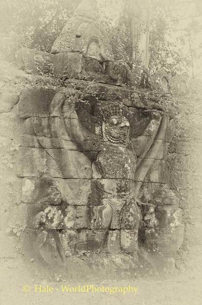 Preah Khan Exterior Wall Carving