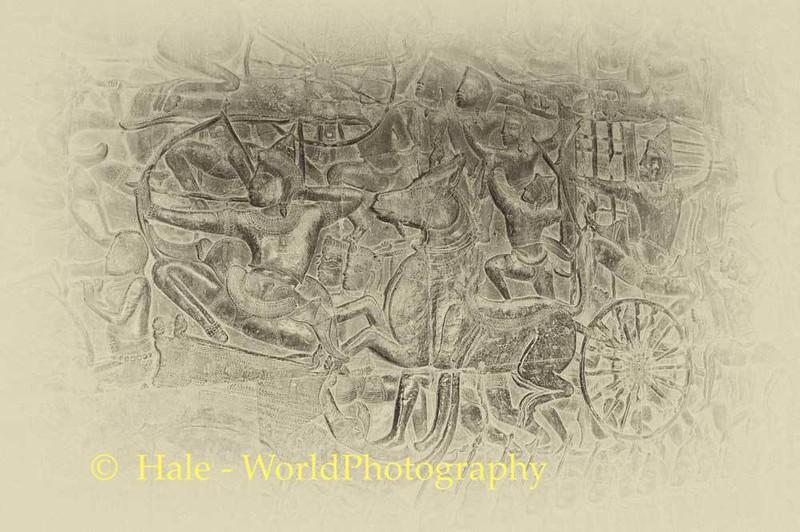 Angkor Wat Stone Carving Mural