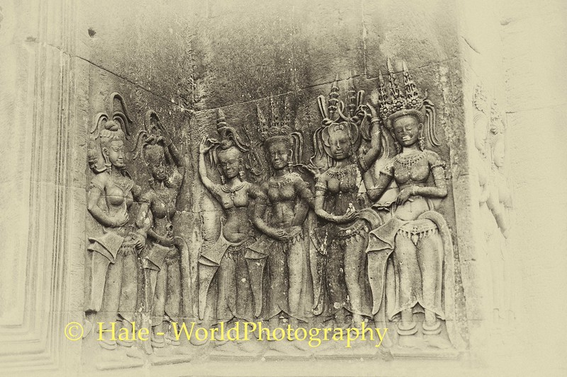 Angkor Wat Carved Devatas
