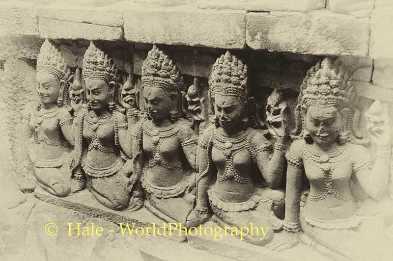 Angkor Thom Wall Carvings