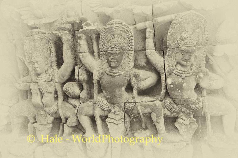 Carved Figures On Terrace of the Elephants