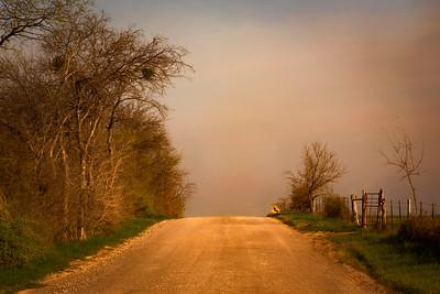 Trading Post Road east of Waco, Texas