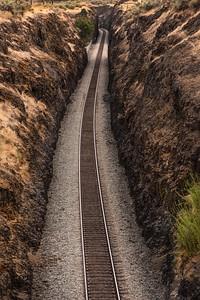 Railroad track, Palouse Falls State Park, Washington