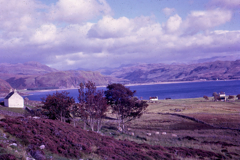 Taken by my Grandmother in 1966 on a European holiday with one of her friends. <br /> <br /> Kylerhea, Isle of Skye, Scotland, close to the Kylerhea to Glenelg (Scottish Mainland) Car Ferry. <br /> <br /> These days Isle of Skye is connected to the Scottish Mainland by the Skye Bridge (opened Oct 1995), about 7.5km NW of Kylerhea.<br /> <br /> I'd love to make a similar trip to try to recreate the same photos from the same spots that my Grandmother took them - although not for one second do I think I could improve on what she did 44 years ago.<br /> Kylerhea, Isle of Skye Scotland 1966<br /> <br /> <br /> <br /> © Phyllis Marjorie Graham Collection
