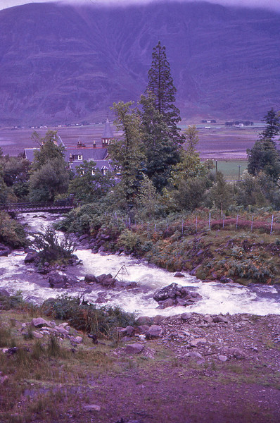 Above Torridon Hotel Upper Loch Torridon Scotland 1966.<br /> <br /> A view above the Torridon Hotel at the head of Loch Torridon, looking over to the village of Fasag on the far side at the foot of Liathach, on the Scottish mainland.<br /> <br /> As with all my Scottish and other UK photos, huge thanks to my Flickr friend Fraser P who has identified the locations of these slides.<br /> <br /> Taken by my Grandmother on her 1966 European Tour.<br /> <br /> © Phyllis Marjorie Graham Collection