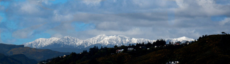 The Tararuas taken from the Third Floor Avalon TV Studios looking over Stokes Valley.