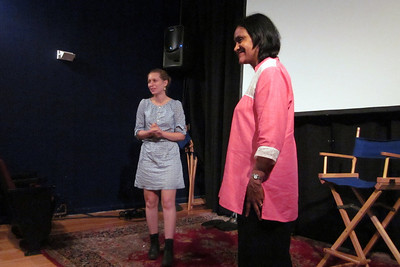 Sarah Mysles and Kavery Kaul during Q&A