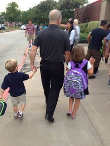 Students head back to class in August this year.