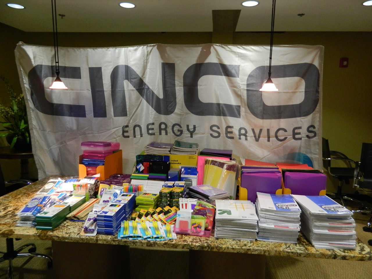 Cinco Energy supports students with employee school supply drive.
