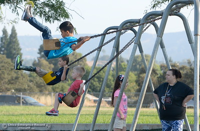 The school year swings into action as parents and students arrive for the first day of school at Wyandotte Academy in Oroville, Calif. Wed. Aug. 16, 2017.  (Bill Husa -- Enterprise-Record)