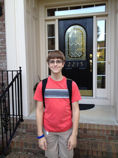 Anthony, First day of school 2012 (seventh grade)
