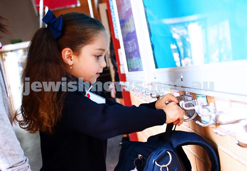 29-1-16. Back to school 2016. Prep students at Beth Rivkah Ladies College. Photo: Peter Haskin