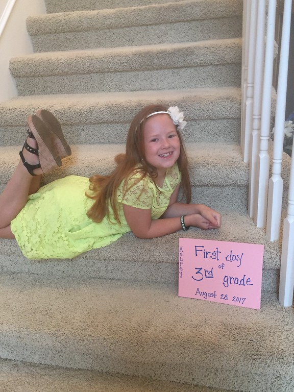 . Aubrey Conner started third-grade early at Andersonville Elementary, Clarkston.